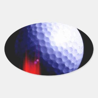 Pelota de golf pegatina ovalada
