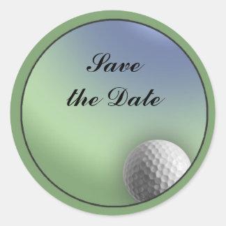 Pelota de golf pegatina redonda