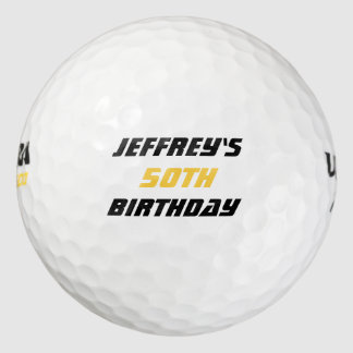 Pelota de golf personalizada, 50.o cumpleaños pack de pelotas de golf