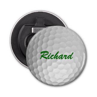 Pelota de golf personalizada abrebotellas redondo