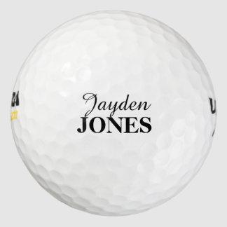Pelota de golf personalizada del nombre y del pack de pelotas de golf
