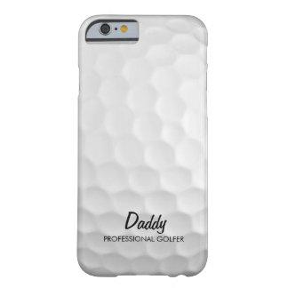 Pelota de golf personalizada funda de iPhone 6 barely there
