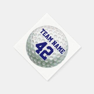 Pelota de golf pintada con nombre servilletas desechables