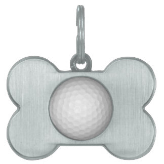 Pelota de golf placa de mascota