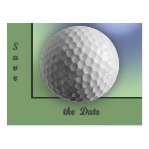 Pelota de golf postales
