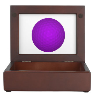 Pelota de golf púrpura cajas de recuerdos