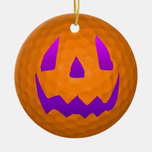 Pelota de golf púrpura de Halloween del resplandor Ornamentos De Reyes