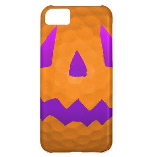 Pelota de golf púrpura de Halloween del resplandor Funda Para iPhone 5C