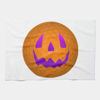 Pelota de golf púrpura de Halloween del resplandor Toalla De Cocina