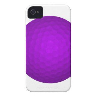 Pelota de golf púrpura iPhone 4 Case-Mate funda