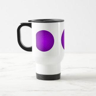 Pelota de golf púrpura tazas de café