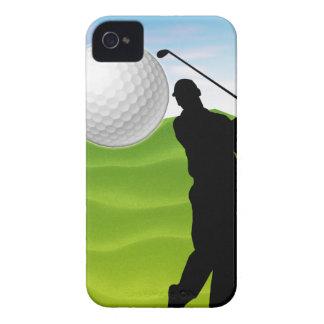 Pelota de golf que viene en usted iPhone 4 fundas