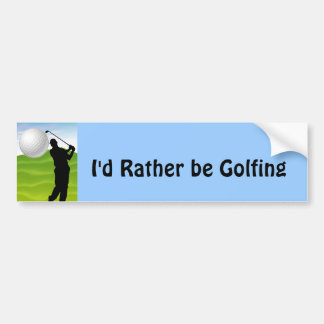 Pelota de golf que viene en usted pegatina para auto