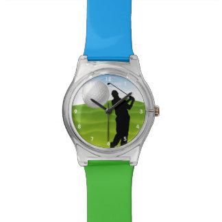 Pelota de golf que viene en usted relojes de mano