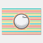 Pelota de golf; Rayas brillantes del arco iris