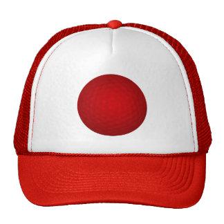 Pelota de golf roja gorros