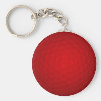 Pelota de golf roja llaveros