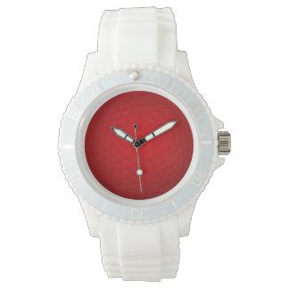 Pelota de golf roja relojes de mano