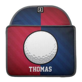 Pelota de golf; Rojo, blanco, y azul Funda Para Macbooks