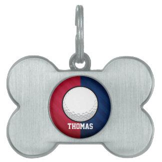 Pelota de golf; Rojo, blanco, y azul Placas Mascota