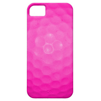 Pelota de golf rosada iPhone 5 carcasa