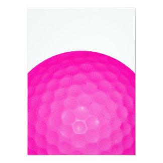 Pelota de golf rosada comunicados