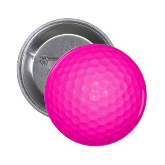 Pelota de golf rosada pin