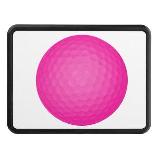 Pelota de golf rosada tapa de remolque