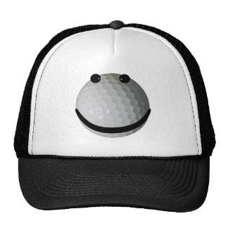 Pelota de golf sonriente de la cara gorro de camionero