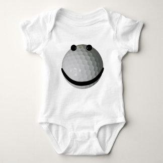 Pelota de golf sonriente de la cara playeras