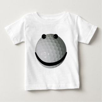 Pelota de golf sonriente de la cara poleras