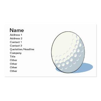 Pelota de golf tarjetas de visita