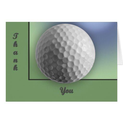 Pelota de golf tarjeta de felicitación