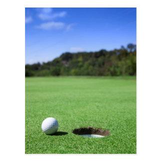 Pelota de golf tarjetas postales