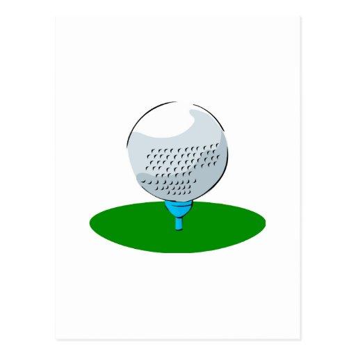 Pelota de golf tarjeta postal