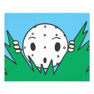 pelota de golf tonta divertida del dibujo animado  tarjetas publicitarias