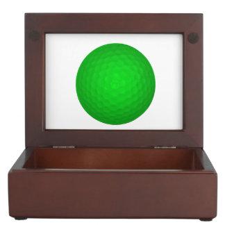 Pelota de golf verde clara cajas de recuerdos