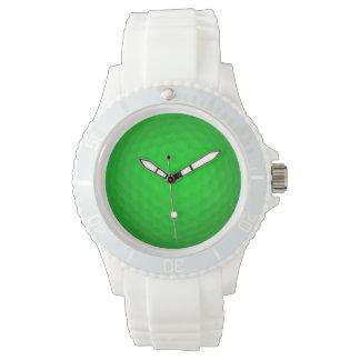 Pelota de golf verde clara reloj