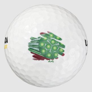 Pelota de golf verde del vórtice de Chakra del Pack De Pelotas De Golf