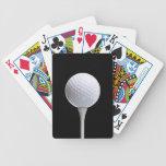 Pelota de golf y camiseta en el negro - plantilla barajas de cartas