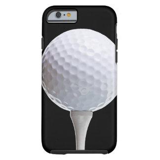 Pelota de golf y camiseta en el negro - plantilla funda de iPhone 6 tough