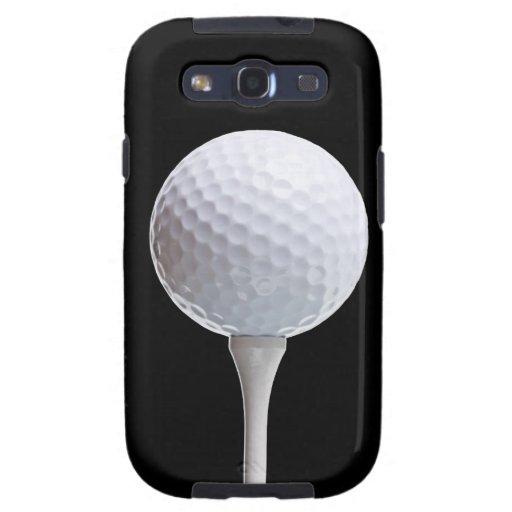 Pelota de golf y camiseta en el negro - plantilla galaxy s3 cobertura
