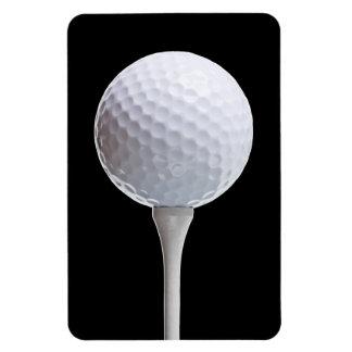 Pelota de golf y camiseta en el negro - plantilla  imán rectangular
