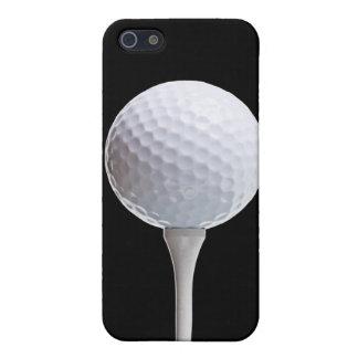 Pelota de golf y camiseta en el negro - plantilla  iPhone 5 fundas