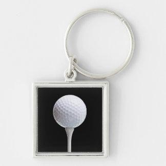 Pelota de golf y camiseta en el negro - plantilla  llaveros