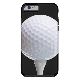 Pelota de golf y camiseta en Negro modificado para Funda Para iPhone 6 Tough