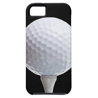 Pelota de golf y camiseta en Negro modificado para iPhone 5 Carcasas