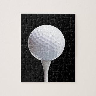 Pelota de golf y camiseta en Negro modificado para Puzzles