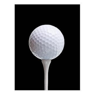 Pelota de golf y camiseta en Negro modificado para Tarjetas Postales