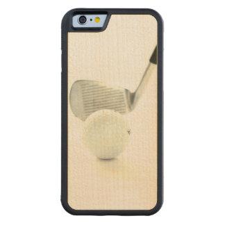 Pelota de golf y club funda de iPhone 6 bumper arce